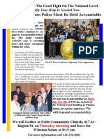 Greensboro Group to Expose Greensboro Police Complicity and Unjust Motives in the Jorge Cornell/ALKQN  Federal Racketeering Case Currently Underway