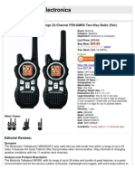 Motorola MR350R 35-Mile Range 22-Channel FRS/GMRS Two-Way Radio (Pair