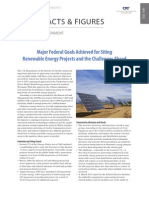 Major Federal Goals Achieved for Siting Renewable Energy Projects and the  Challenges Ahead
