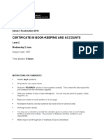 2010 LCCI Bookkeeping and Accounts Series 3