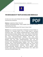 Rivaroxaban Tests Biologiques GEHT