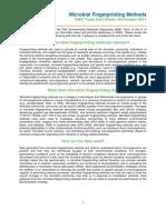 Microbial Fingerprinting Fact Sheet
