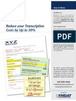 Reduce your Transcription Costs by Up to 50%