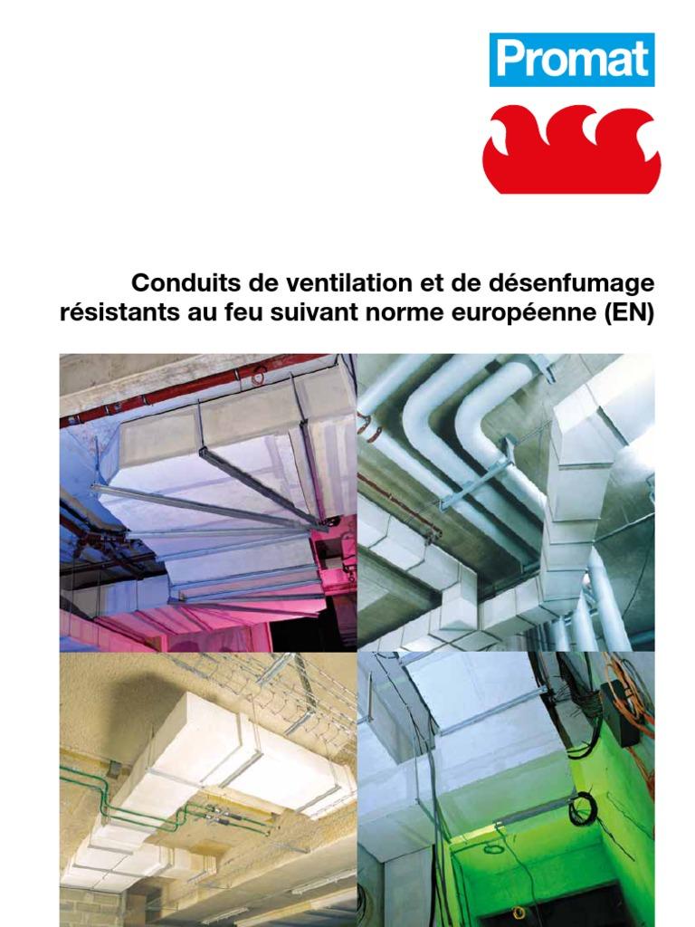 Conduits de ventilation et d senfumage et gaines techniques coupe feu - Promatect l500 coupe feu ...