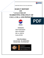 Analysis of Marketing Strategy of Coca Cola and Pepsico
