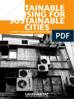 Sustainable Housing for Sustainable Cities