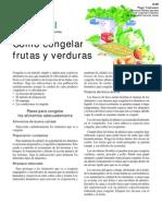 Congelacion de Frutas y Verduras