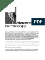 """Widnokręgi """"Magazyn Międzynarodowy""""nr.10 Pazdziernik 1964r.(wybór mój II) Kanclerz Konrad Adenuer i  zachodnio-niemiecka telewizja."""