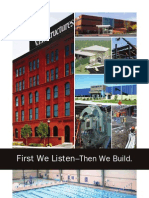 First We Listen Then We Build Brochure