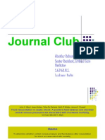 journal club- fluid balance and mortality in critically ill patients