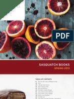 Sasquatch Books Spring 2013 Catalog