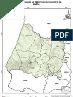 Actual mapa de freguesias de Sintra