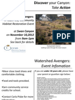 Watershed Avengers Swan Canyon Restoration