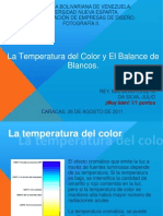 la temperatura del color y el balance de blancos