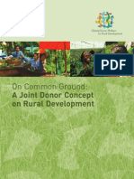 On Common Ground: A Joint Donor Concept on Rural Development