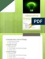 Alternative Energy at SQU