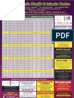 December 2012 Timetable