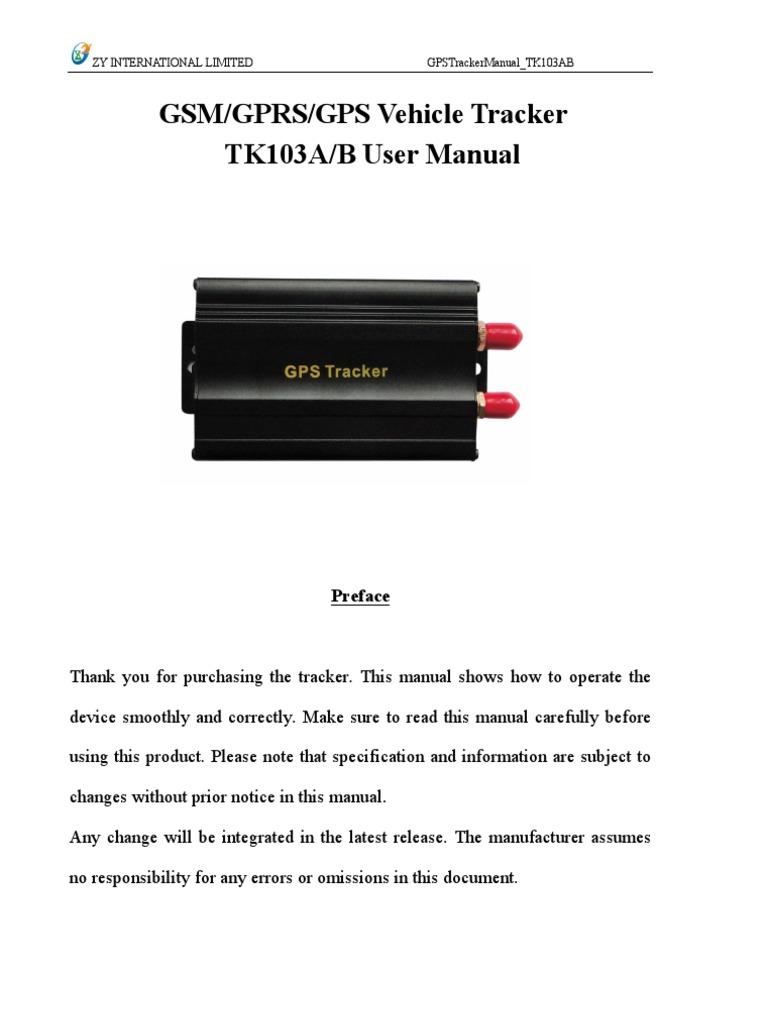 gps 103 car tracker manual general packet radio service short rh es scribd com GSM GPRS GPS Mini GPS Tracker TK102
