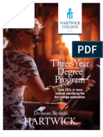 Hartwick College Three-Year Degree Program