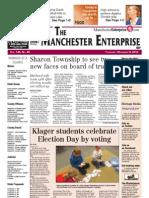 Manchester Enterprise Front Page Nov. 8, 2012
