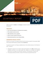 120731 Quarterly Activities Report