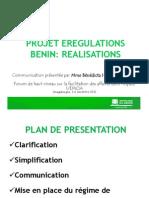 BENIN - Realisations