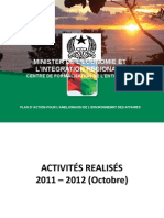 GUINEE BISSAU - Plan Action