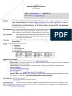 Statistics for Business - STAT 183 Z1 - Course Syllabus