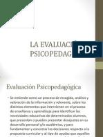 Evaluación psicopedagógica. Visual