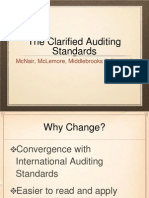 The Clarified Auditing Standards