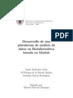 Desarrrollo de una base de análisis de datos. Bioinformática