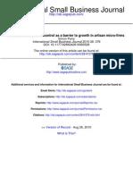 International Small Business Journal 2010 Parry 378 97