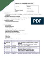 Planificacion de Clase en Tres Fases