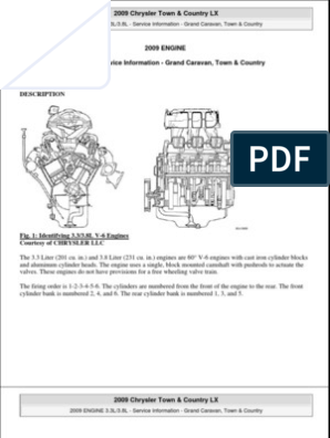 2008 2009 town and country 3 8l engine leak piston 2002 Chrysler Town And Country 3 8 Wiring Diagram 2002 dodge grand caravan wiring harness