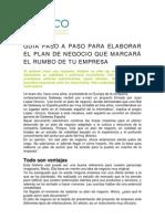 Plan de Negocios PASO a PASO
