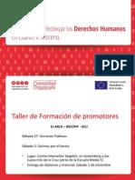 Presentación - Proyecto para efectivizar DDHH en Cuartel V, Moreno