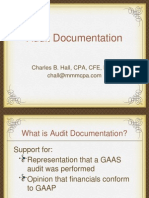 Work Paper Documentation