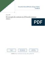 Concepto de Contrato en El Derecho Romano Clasico