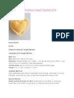 Free Crochet Pattern Heart Sachet