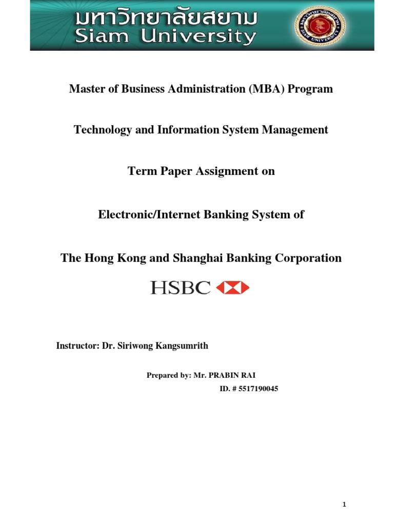 HSBC Bank Term Project Report | Hsbc | Seguridad y