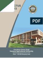Prospectus-2012-13 Hisar Agriculture University