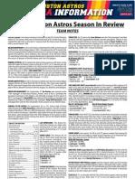 Astros 2012 Season in Review