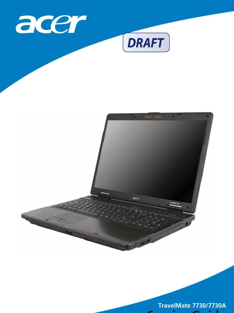 service manual acer travelmate 7730 7730g compact disc cd rom rh scribd com Acer Aspire Laptop Acer Aspire PC
