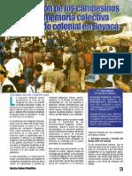La tradición de los campesinos como memoria colectiva del pasado colonial de Boyacá