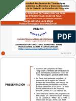 Presentación IX Congreso EUMED migraciones. 5 al 23 nov 2012