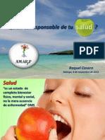 Quién es responsable de tu salud y bienestar, Raquel Casero
