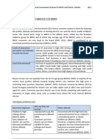 Internal and External Environment Analysis for BMWi and Electric Vehicles