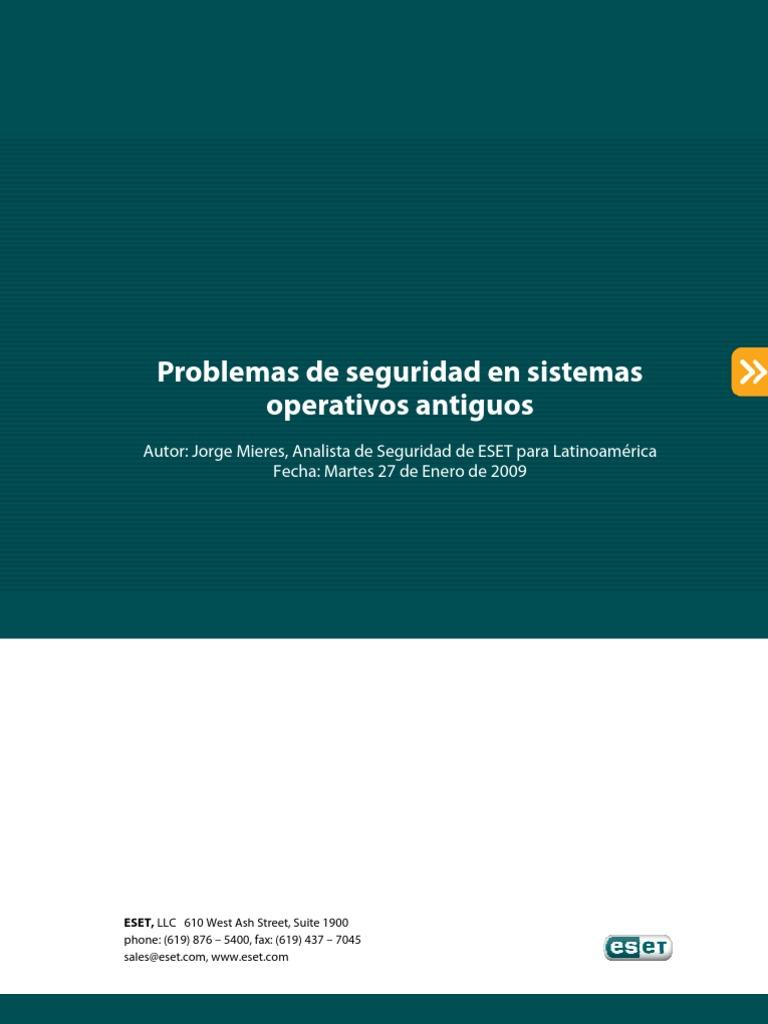 Problemas Seguridad Sistemas Operativos Antiguos