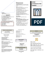 Church Bulletin- November 11