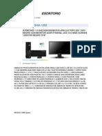 Catalogo de Computadoras Escritorio y Lap Top
